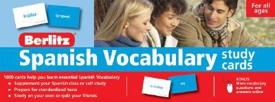 Berlitz Spanish Vocabulary Cards